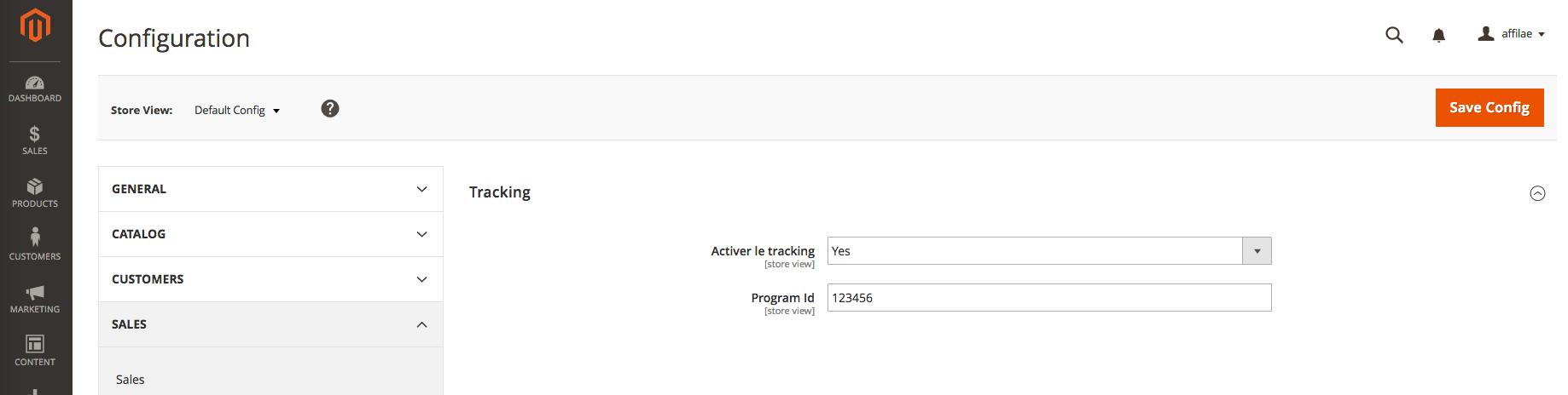 Ce module Magento va vous permettre de poser simplement les scripts de tracking pour votre programme d'affiliation Affilae